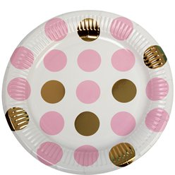 Pattern Works Pink Polka Dot Plates - 23cm