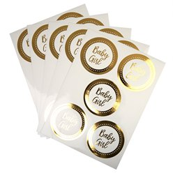 Pattern Works Gold 'Baby Girl' Stickers