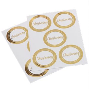 Pattern Works Gold 'Christening' Stickers