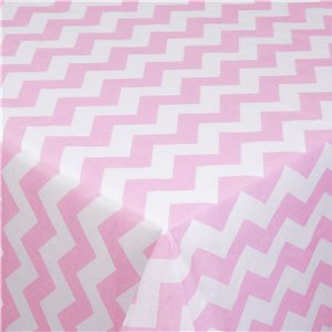 Pattern Works Pink Chevron Tablecover - 1.8m