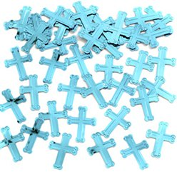 Blue Crosses Table/Invite Confetti