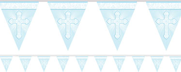 Radiant Cross Blue Flag Banner - 3.6m