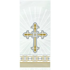 Silver & Gold Radiant Cross Cello Party Bags