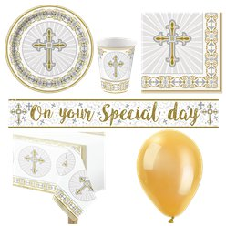 Radiant Cross Holy Communion Party Pack - Deluxe Pack for 16