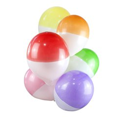 Rainbow Two Tone Balloons - 12