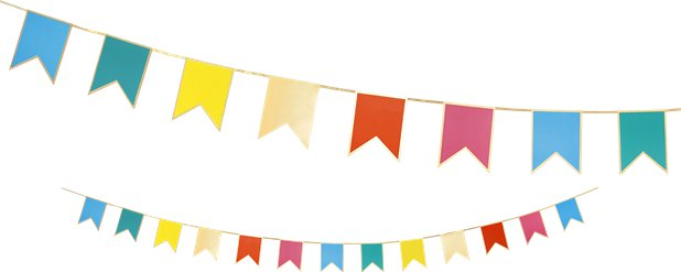 Rainbow Bunting Card Garland - 3m