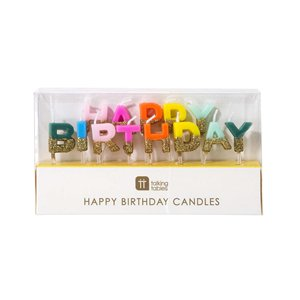Rainbow Happy Birthday Candles