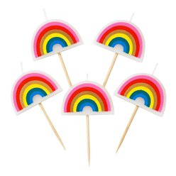 Rainbow Shaped Candle Picks