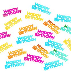 Rainbow Happy Birthday Foil Scatter Confetti