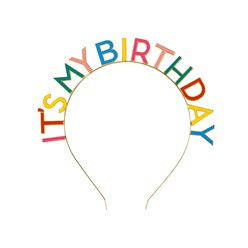 Rainbow 'It's My Birthday' Headband