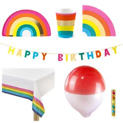 Rainbow Party Pack - Deluxe Pack for 12