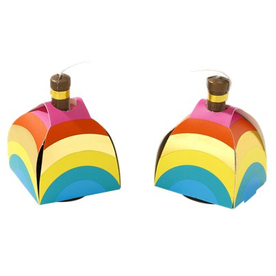 Rainbow Party Poppers