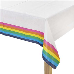 Rainbow Paper Table Cover - 1.8m x 1.2m