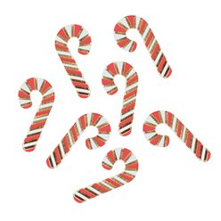 Merry & Bright Foiled Mini Candy Cane Confetti - 14g
