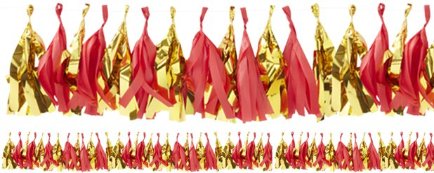 Red & Gold - Red Gold Tassel Garland