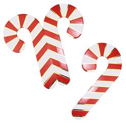 Merry & Bright Candy Cane Glass Decoration - 3.5cm x 7cm