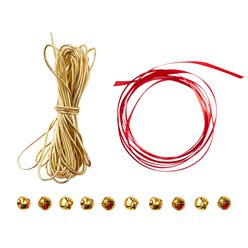 Red & Gold - Festive Wrap Kit Including Bells