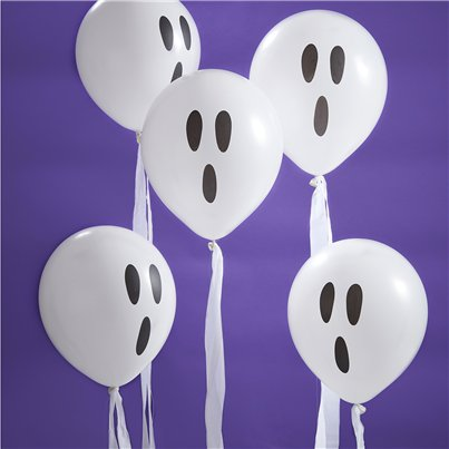 "Creep It Real Ghost Balloons with Streamers (12"")"
