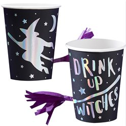 Drink Up Witches Cups with Tassels
