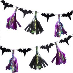Creep It Real Bat Tassel Garland - 2m