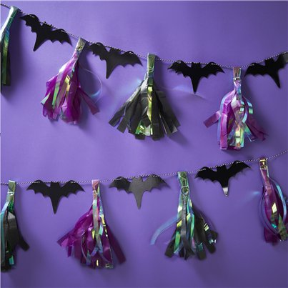 Creep It Real Bat Tassel Garland (2m)