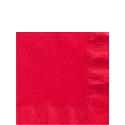 Red Beverage Napkins - 25cm