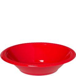 Red Party Plastic Bowls - 355ml