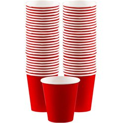 Red Paper Coffee Cups - 340ml