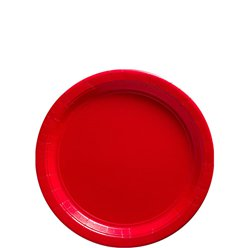 Red Paper Plates - 18cm