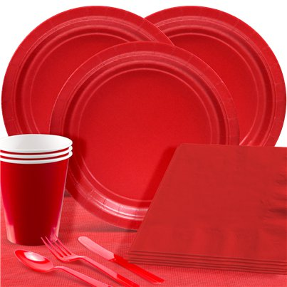 Red Party Pack For 20 People