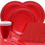 Red Party Pack For 20 People - Save 10%