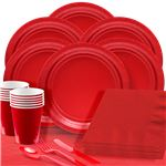 Red Party Pack For 100 People