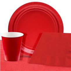 Red Party Pack For 8 People - Value Pack For 8