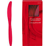 Red Plastic Knives