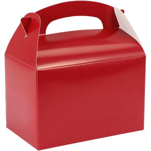Apple Red Party Boxes - 15cm