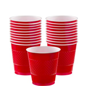 Red Plastic Cups - 266ml