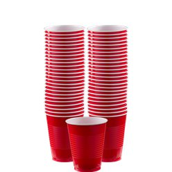 Red Plastic Cups - 473ml