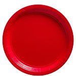 Red Paper Plates - 23cm