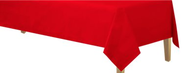 Red Paper Table Cover - 1.4m x 2.8m 3ply