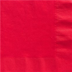 Red Dinner Paper Napkins - 40cm 2ply