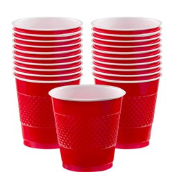Red Plastic Cups - 355ml