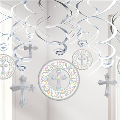 First Holy Communion Hanging Swirls