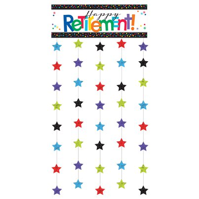 Retirement Officially Retired Door Curtain - 1.95m