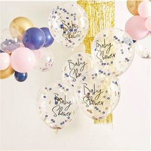 Gender Reveal Baby Shower Confetti Balloons - 12