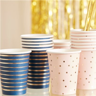 Gender Reveal Navy & Pink Cups