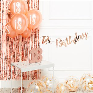 18th Birthday Rose Gold Decoration Kit - Deluxe