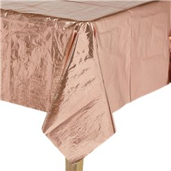 Rose Gold Metallic Paper Tablecover - 1.8m x 1.2m