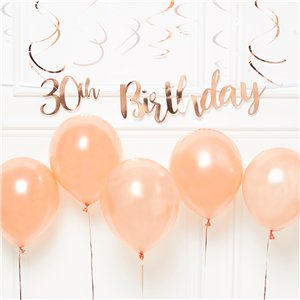 30th Birthday Rose Gold Decoration Kit - Value