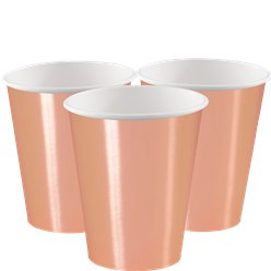 Rose Gold Paper Cups - 355ml