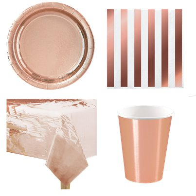Rose Gold Party Pack - Value Pack for 8